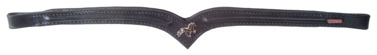 Browband with horse emblem
