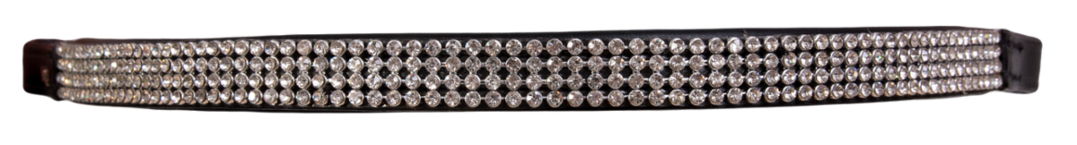 Browband 4 rows crystals