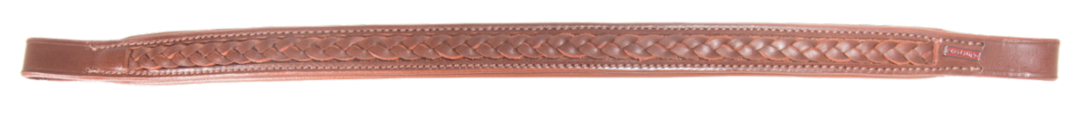 Browband with braiding