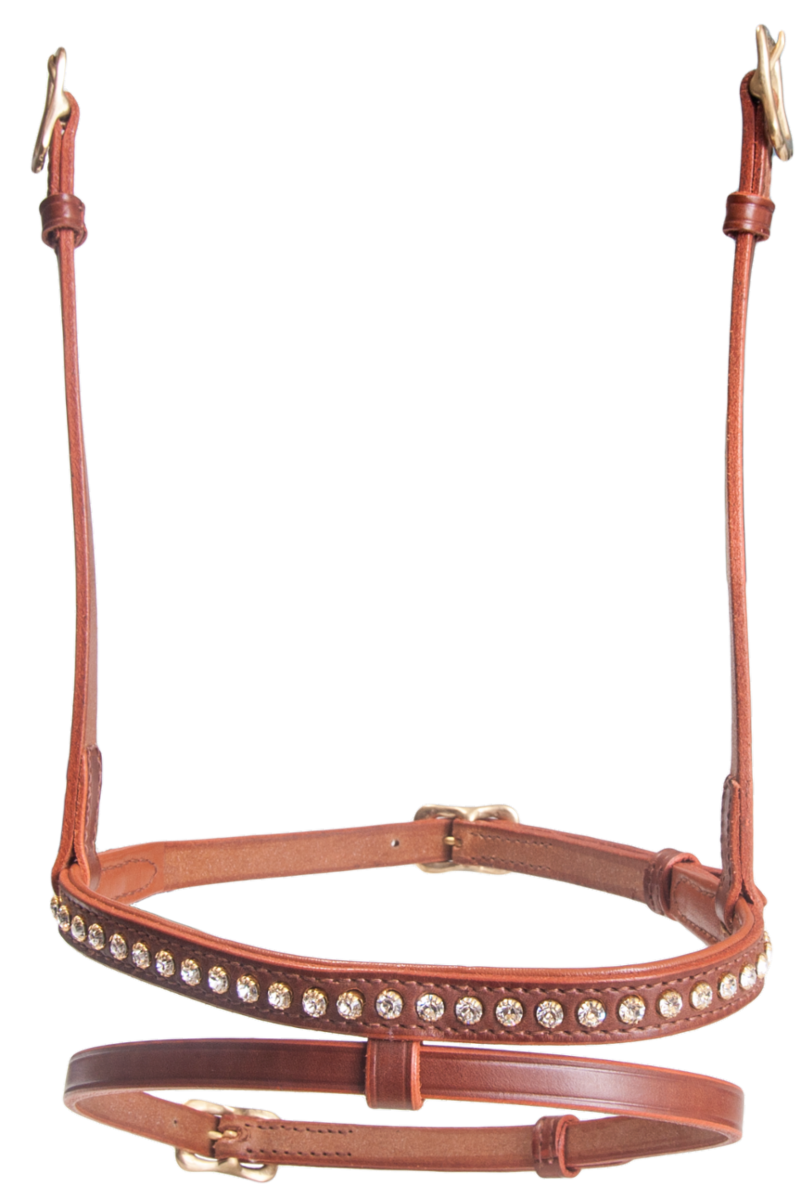 Combined noseband, 1 row crystals