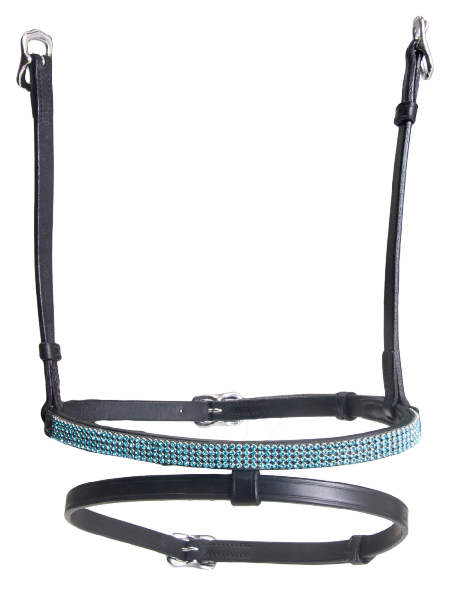 Combined noseband, 4 rows crystals