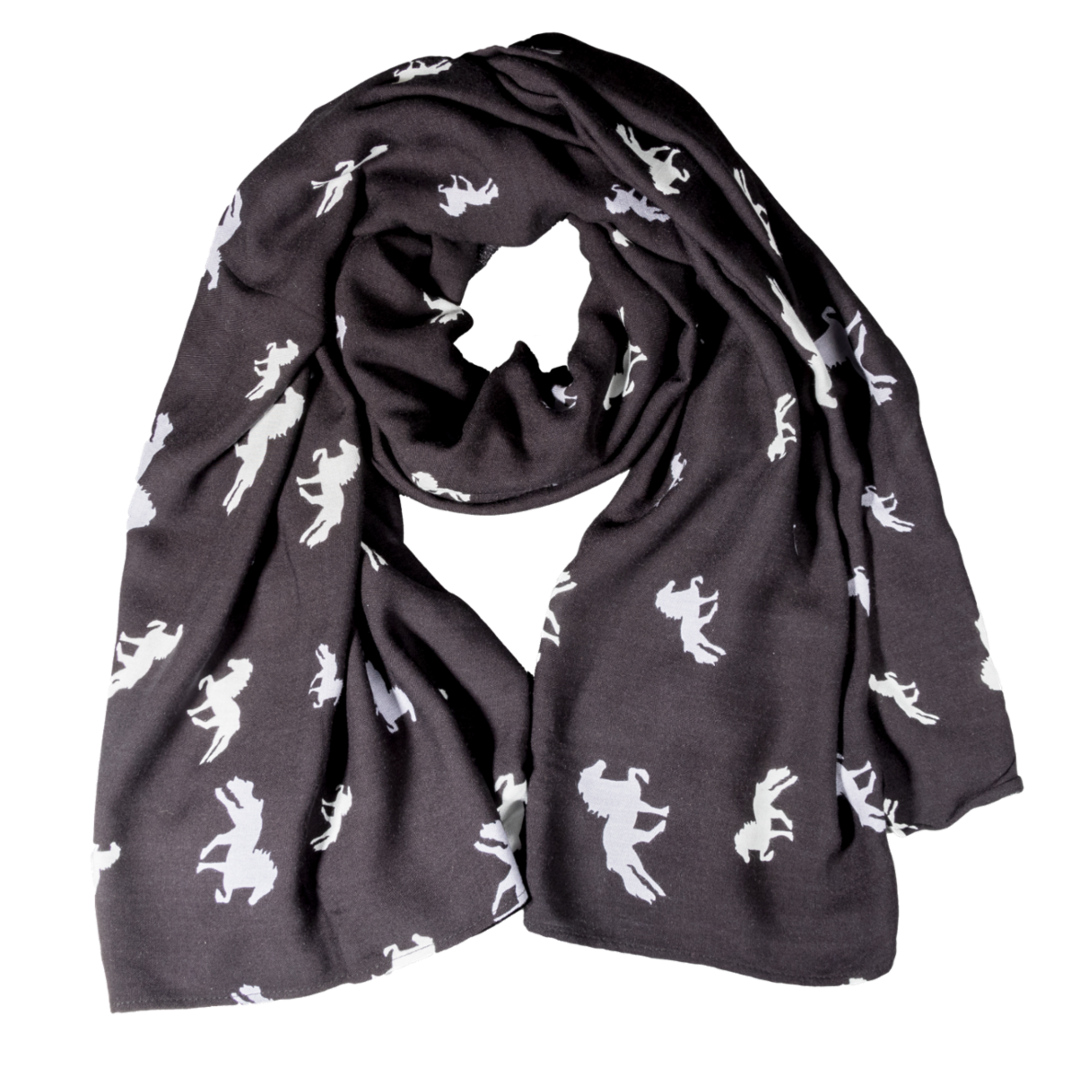 Scarf with horses