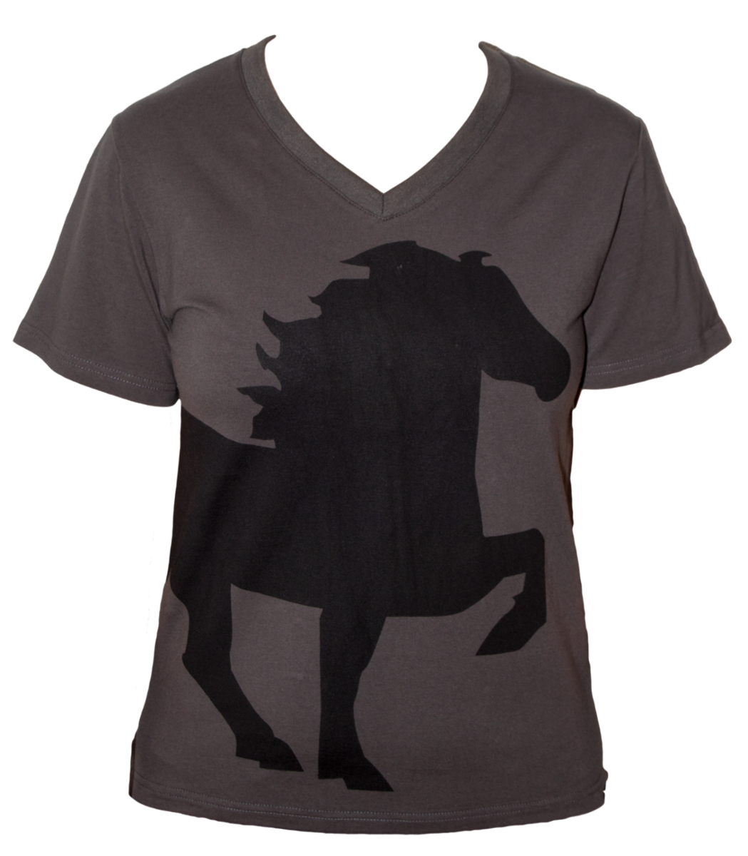 T-shirt w. horse and V-neck