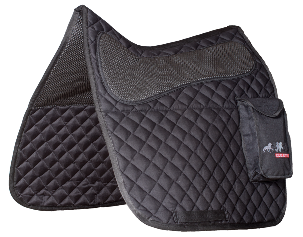 Saddle pad with pocket, cotton