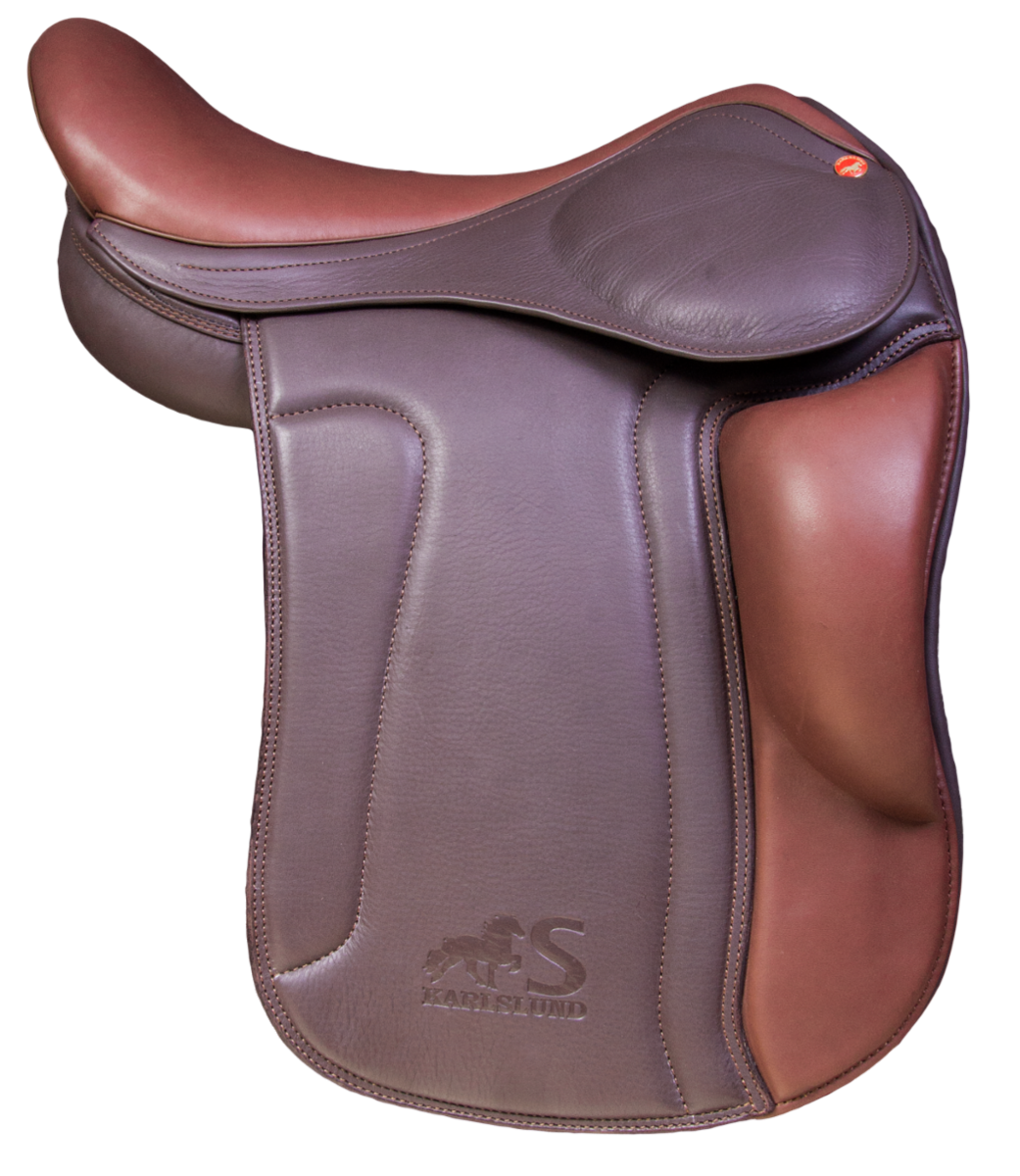 S saddle with short kneerolls, brown