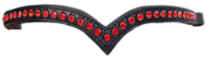 Browband 1 row crystals