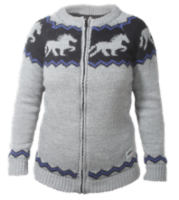 Wool sweater w. horses