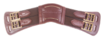 Anatomical leather girth, brown