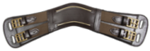 Anatomical leather girth, dark brown